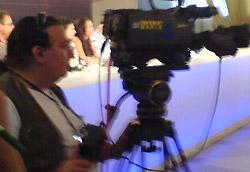 Lindsay Lohan, per una volta dietro una telecamera invece che davanti.