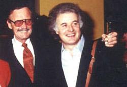 Andrea Corno insieme a Stan Lee