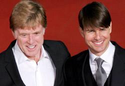 Robert Redford e Tom Cruise sulla passerella della Festa di Roma