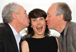 I fratelli Dardenne e Arta Dobroshi, registi e protagonista di Le Silence de Lorna