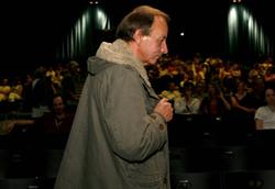 Michel Houellebecq durante la presentazione di La possibilite' d'une ile