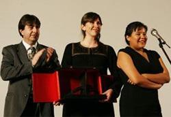 La premiazione del film vincitore, Frozen River