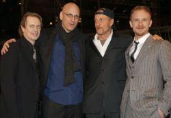 Steve Buscemi, Oren Moverman, Woody Harrelson e Ben Foster alla prima di The Messenger