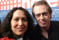 La nostra inviata Sara Sagrati con Steve Buscemi dopo la conferenza di John Rabe