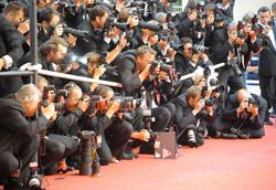 Una schiera di fotografi sul red carpet della Croisette