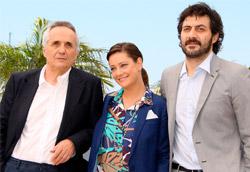 Marco Bellocchio, Giovanna Mezzogiorno e Filippo Timi alla presentazione di Vincere