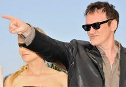 Quentin Tarantino sulla Croisette per la presentazione di Inglourious Basterds