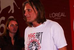 Viggo Mortensen durante la conferenza stampa di The Road