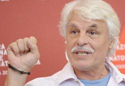 Michele Placido dopo la conferenza stampa di Il grande sogno