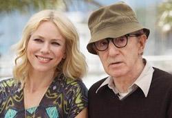 Woody Allen insieme a Naomi Watts alla Croisette