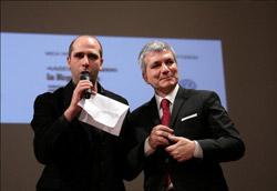 Checco Zalone premiato da Nichi Vendola